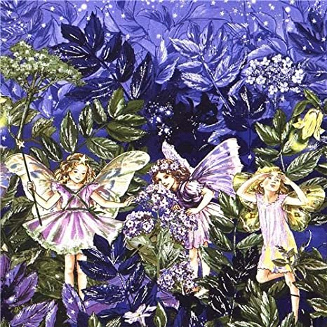 Sweet Vid en rosas y morados 100/% tela de algodón de Michael Miller