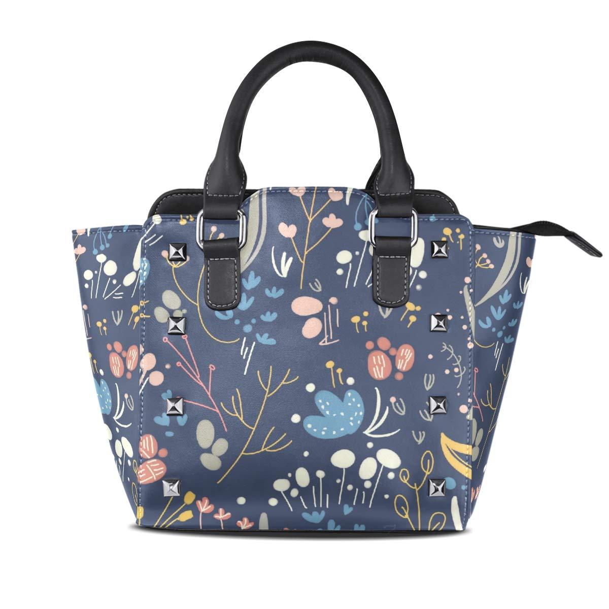 Design4 Handbag colorful Dream Catcher Genuine Leather Tote Rivet Bag Shoulder Strap Top Handle Women