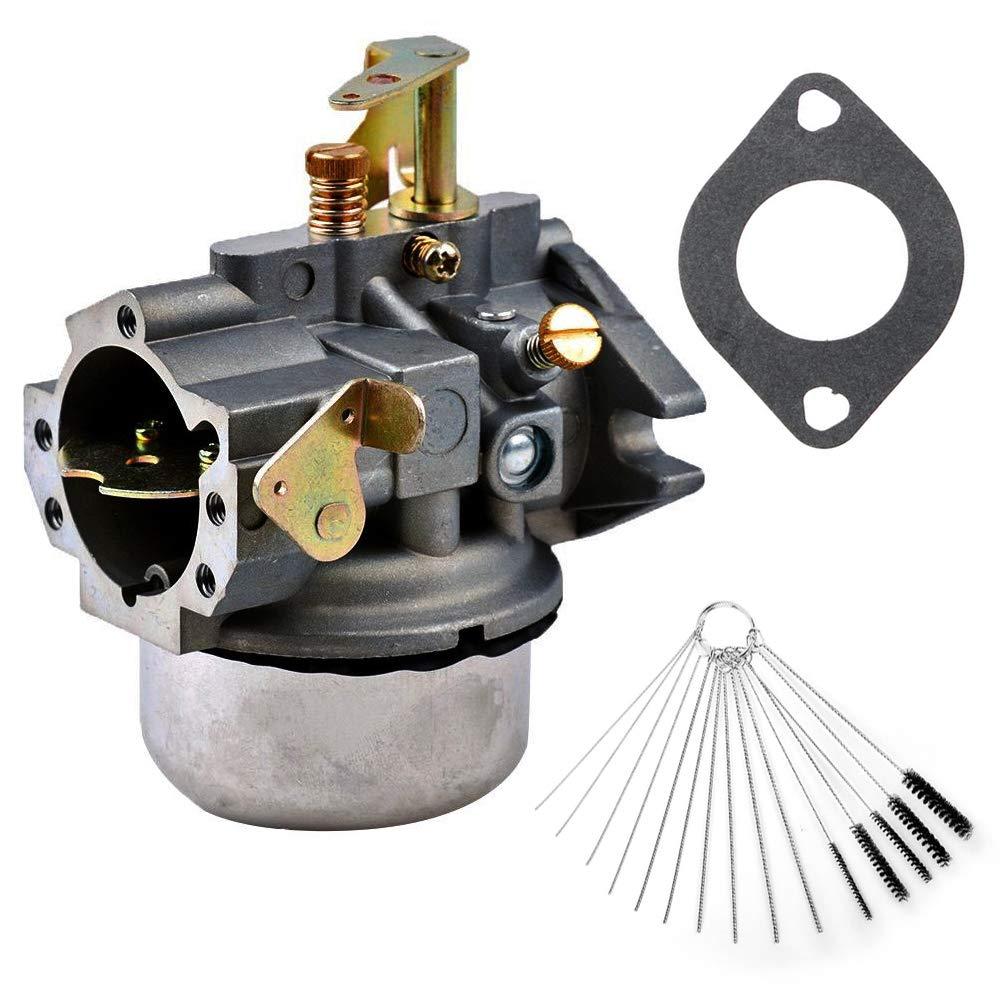 Dosens Carburetor for Kohler K241 K301 Cast Iron 10 HP 12 HP Engine Carb & Carbon Dirt Jet Cleaner Tool Kit