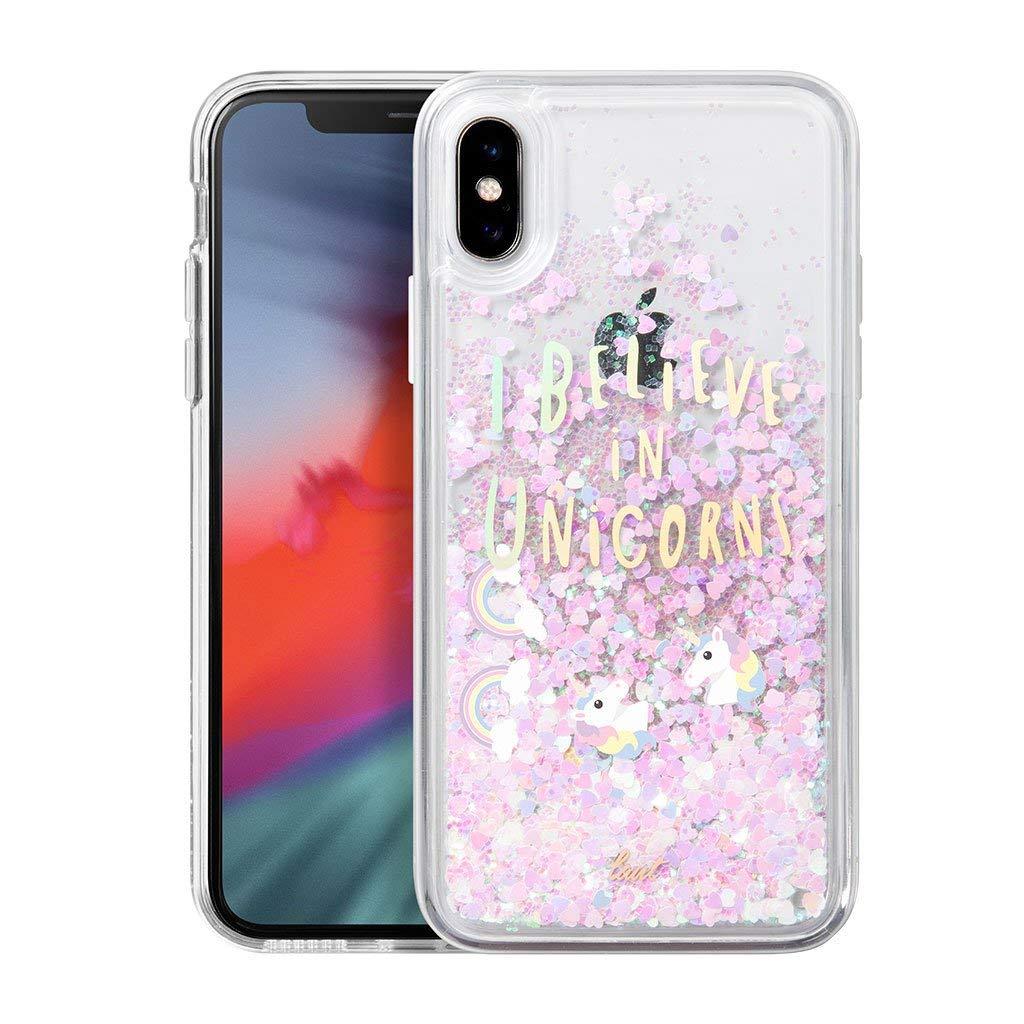 LAUT - Unicorns for iPhone Xs/iPhone X| Rainbow | Durable | Reflective Glitter