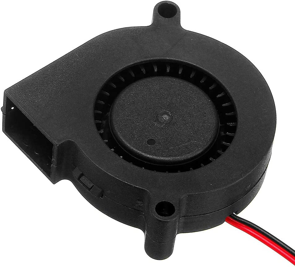 ILS 5 Pieces 24V 0.15A 5015 Sleeve Bearing Brushless Turbo Cooling Fan with 2Pin XH2.54 Wire for 3D Printer