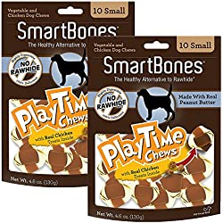 Smartbone PlayTime Chews for Dogs With Real Chicken Treats Inside, 2 Pack
