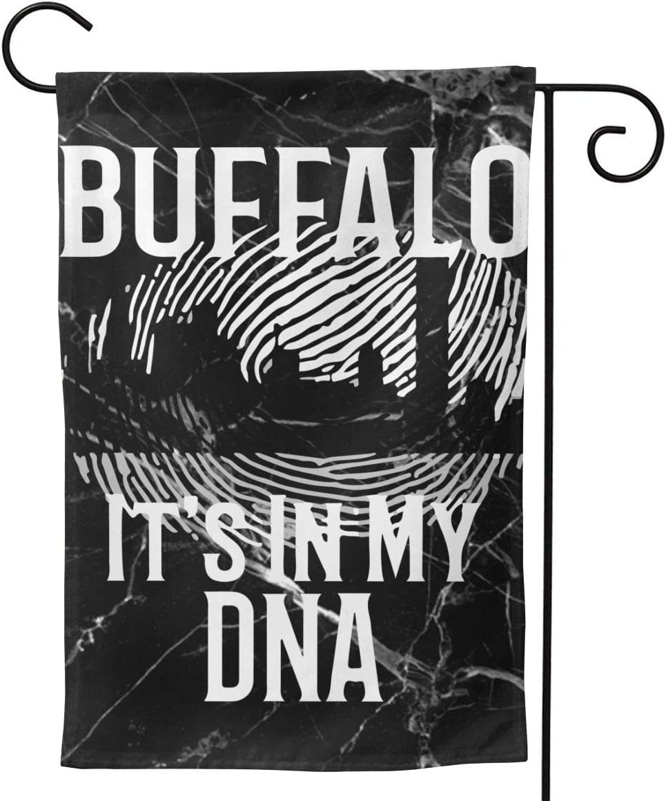 Double Sided Premium Garden Flag,Buffalo NY It's In My DNA Waterproof Garden Flags 12.5 X 18 Inches