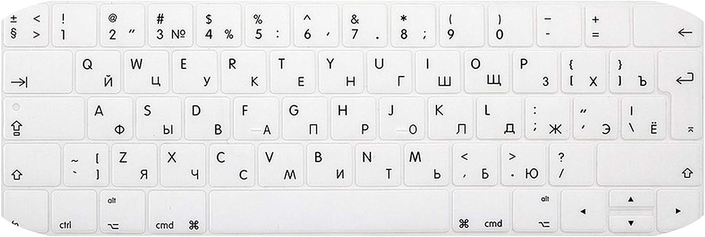 Euro Russian Keyboard Stickers for MacBook Pro 13 Touch Bar Silicone Keyboard Cover for MacBook Pro 15 2016 Skin Protector-Purple