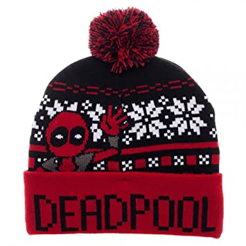 Amazon.com: Marvel DEADPOOL Fair Isle Winter Knit Hat: Sports ...