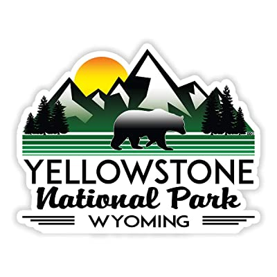 Yellowstone National Park Vinyl Decal Wyoming Sticker: Automotive