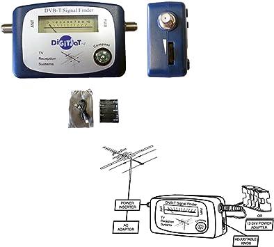 Medidor de campo (apuntador / buscador de señal) para antena digital terrestre / analógica, DVBT