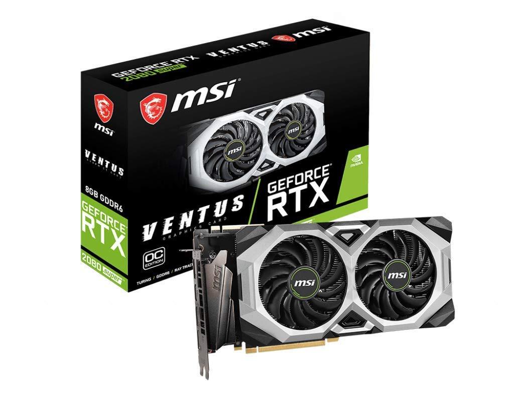 MSI Gaming GeForce RTX 2080 Super 8GB GDRR6 256-Bit HDMI/DP Nvlink Torx Fan Turing Architecture Overclocked Graphics Card (RTX 2080 Super Ventus XS OC) (Renewed)