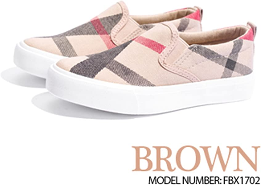 bd452fb2ef11f7 Striped Children Shoes Slip On Canvas Girls Boys Sneakers Rubber Anti  Silppery Spring Kids Shoes Brown