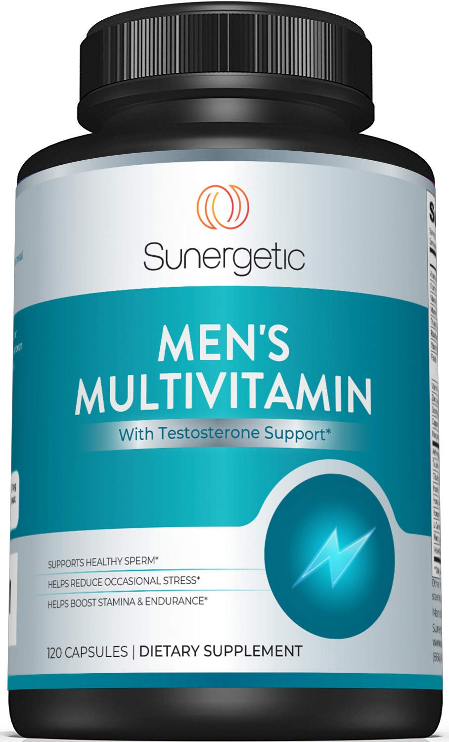 Premium Men's Support Supplement – Powerful Men's Multivitamin– Supports Energy, Stamina, Endurance & Stress Management – with Zinc, Ashwagandha, Maca, L-Carnitine & Vitamins – 120 Capsules