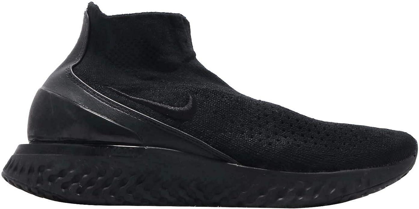 Nike Men's Rise React Flyknit, Black