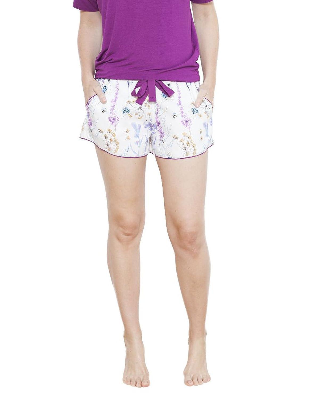 TALLA 36. Cyberjammies 3645 Women's Florence White Floral Pajama Pyjama Short