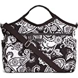 Vera Bradley Luggage Womens Carryall Travel Bag Midnight Paisley Duffel Bag