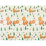 "Folding Baby Play Mat   Superjare Reversible XPE Foam Floor Playmat   Unisex Playroom & Nursery Mat for Infants, Toddlers & Kids   78"" x 57"""