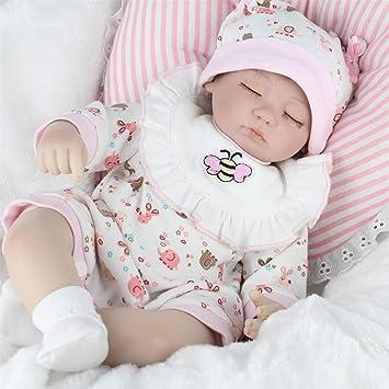 SJHO Reborn Bebé Muñeca-Recién Nacido Bebé Lindo Ojo Cerrado ...