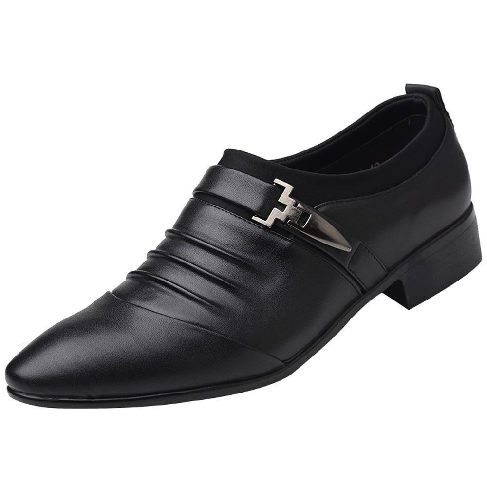 Covermason Zapatos Zapatos de negocios, cuero nuevos de hombres británicos acentuados: Amazon.es: Ropa y accesorios