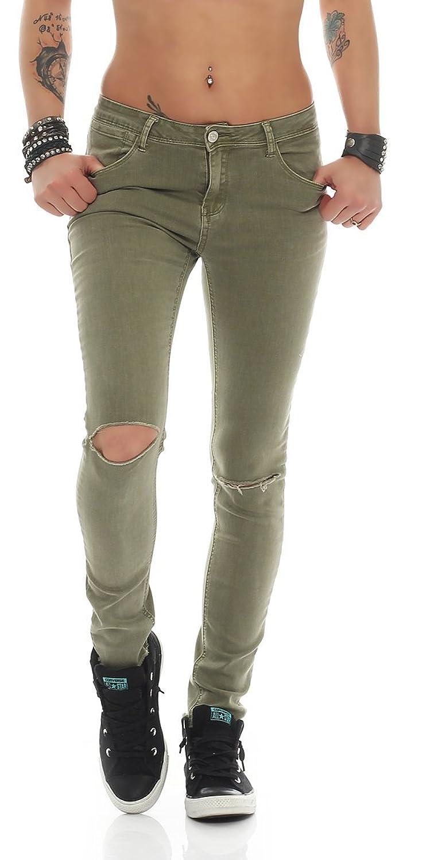 2d09e108fa94 best Fashion4Young - Jeans - Femme bleu Schwarz XS 36 - adosmanos.co.cr