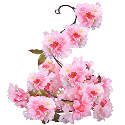 Amazon.com: GTIDEA Silk Plants Direct Artificial Cherry Blossom ...