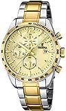 Festina - F16761/1 - Montre Homme - Quartz Analogique - Chronomètre/ Aiguilles Lumineuses - Bracelet Acier Inoxydable Multicolore