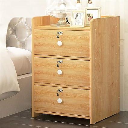 Bon LIUWORDD Locking File Cabinet Bedroom Mini Bedside Table Economy Small  Apartment Corner Cabinet,C