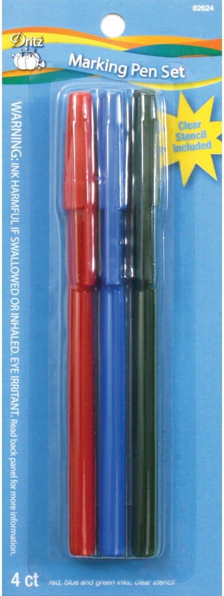 Colore Rosso//Blu//Verde//Trasparente Dritz Penna per Tessuti