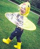 Kids Raincoat Cartoon Duck Raincoat Yellow Packable Children's Cute Hooded Poncho Cloak