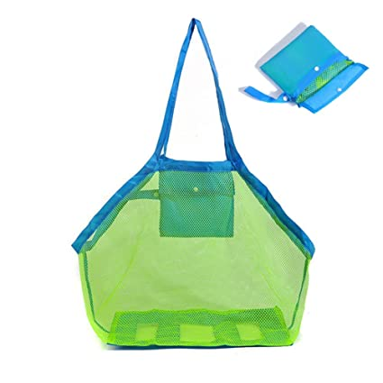 Event & Party Strict Large Mesh Beach Storage Organizer Tote Durable Folding Sand Away Drawstring Beach Backpack Swim Pool Toys Storage Bags