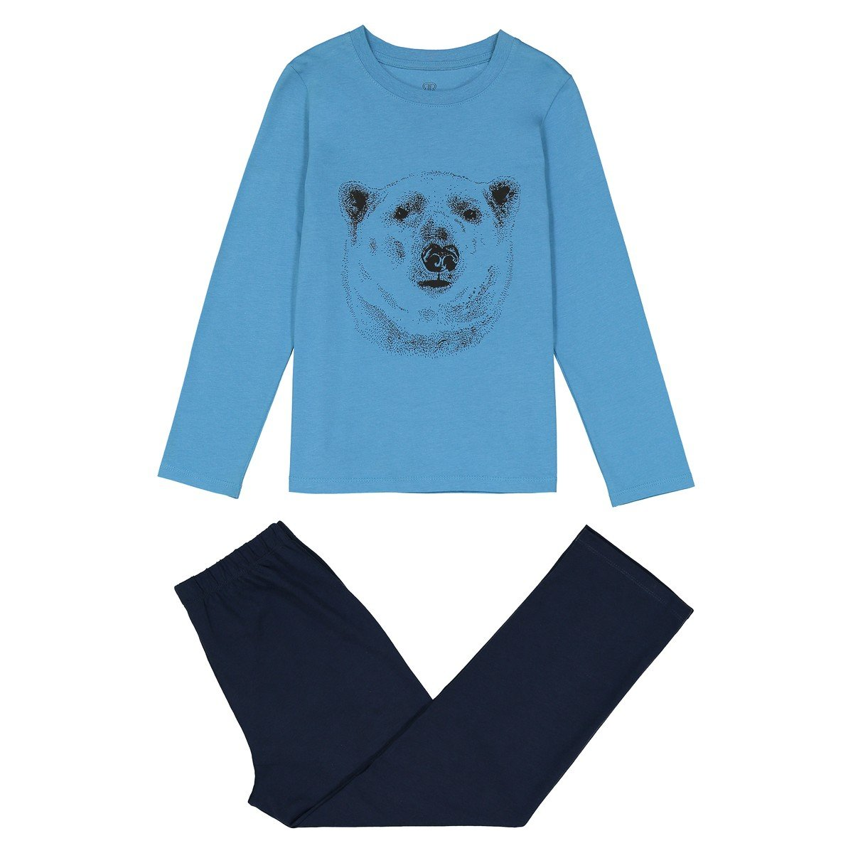 3-12 Years La Redoute Collections Big Boys Two-Tone Cotton Pyjamas