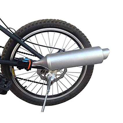 Myfreed Bicycle Exhaust System Bike Turbo Exhaust Pipe with Sound Effect Motorcycle Noise Maker Bike Turbo