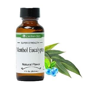 LorAnn Menthol Eucalyptus Super Strength FlavorFlavor, Natural, 1 ounce bottle