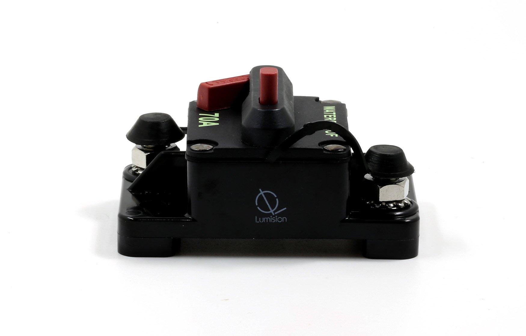 Lumision Waterproof Automotive Circuit Breaker Manual Reset upto 48VDC 70AMP by Lumision (Image #6)