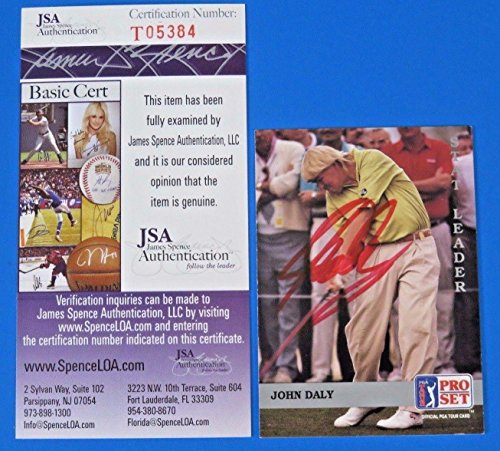 - John Daley Signed 1991 Pro Set Golf Card #179 ~ T05384 ~ - JSA Certified - Autographed Golf Cards