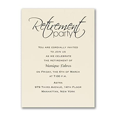 Amazon Com 1175pk Retirement Celebration Party Invitation