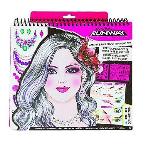 Fashion Angels Project Runway Make-Up Design Sketch Portfolio - Fashion Design Set