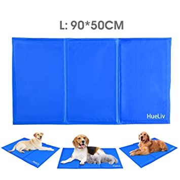 Hueliv Dog Cooling Mat Large Pet Cool Mat Dog Cooling Pad With Self Cooling Gel Non Toxic Activated Gel Cooling Pad Pet Ice Mat Great For Dogs Cats