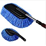 Sunmoch Retractable Micro Fiber Dust Cleaning Car Wash Brush Dusting Brush Cleaning Waxing Dust Mop Auto Cleaning Duster Removable Wax Brush Set (Pack of 2)