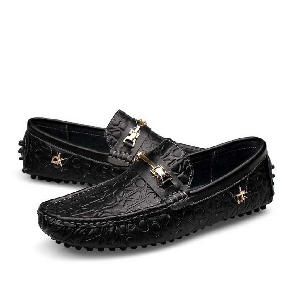 Hy Herrenschuhe, leichte leichte leichte Loafers & Slip-Ons, Spring Fall New Soft Sole Slip-Ons Driving schuhe,schwarz,40 81e96b