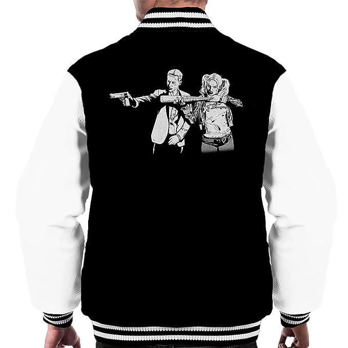 Pulp Fiction Joker Harley Quinn Suicide Squad Mens Varsity Jacket