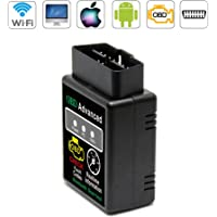 VAWcornic Bluetooth Professioneller OBD2 Diagnosegerät, Auto Diagnosegerät OBD II Kfz Adapter - Kompatibel mit Alle Fahrzeuge, Auto Diagnose OBD2 Stecker Für IOS, Android, Windows