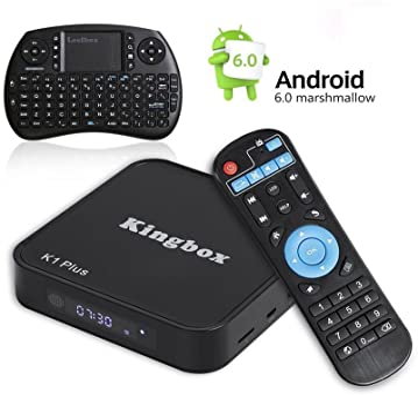 Más reciente Android TV Box 4 K/BT//Full HD/H.265/Smart TV Box, kingbox K1 Plus Android 6.0 TV Box 2 GB/8GB con Mini teclado