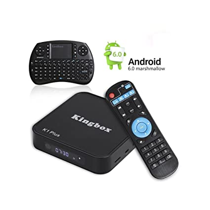2018 Kingbox Android TV Box with Free Wireless Keyboard, K1