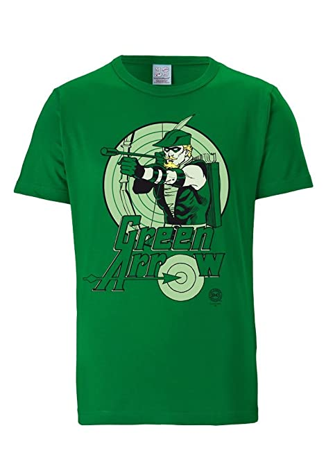 Camiseta de Hombre Green Arrow Comic DC ZlfLKvE5