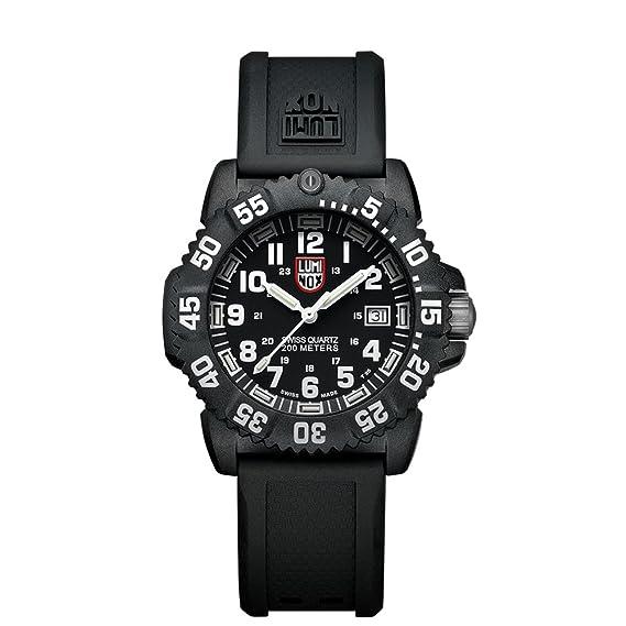 Luminox Navy SEAL Colormark 38mm LU7051 Reloj de pulsera Cuarzo Mujer correa de Caucho Negro: Amazon.es: Relojes
