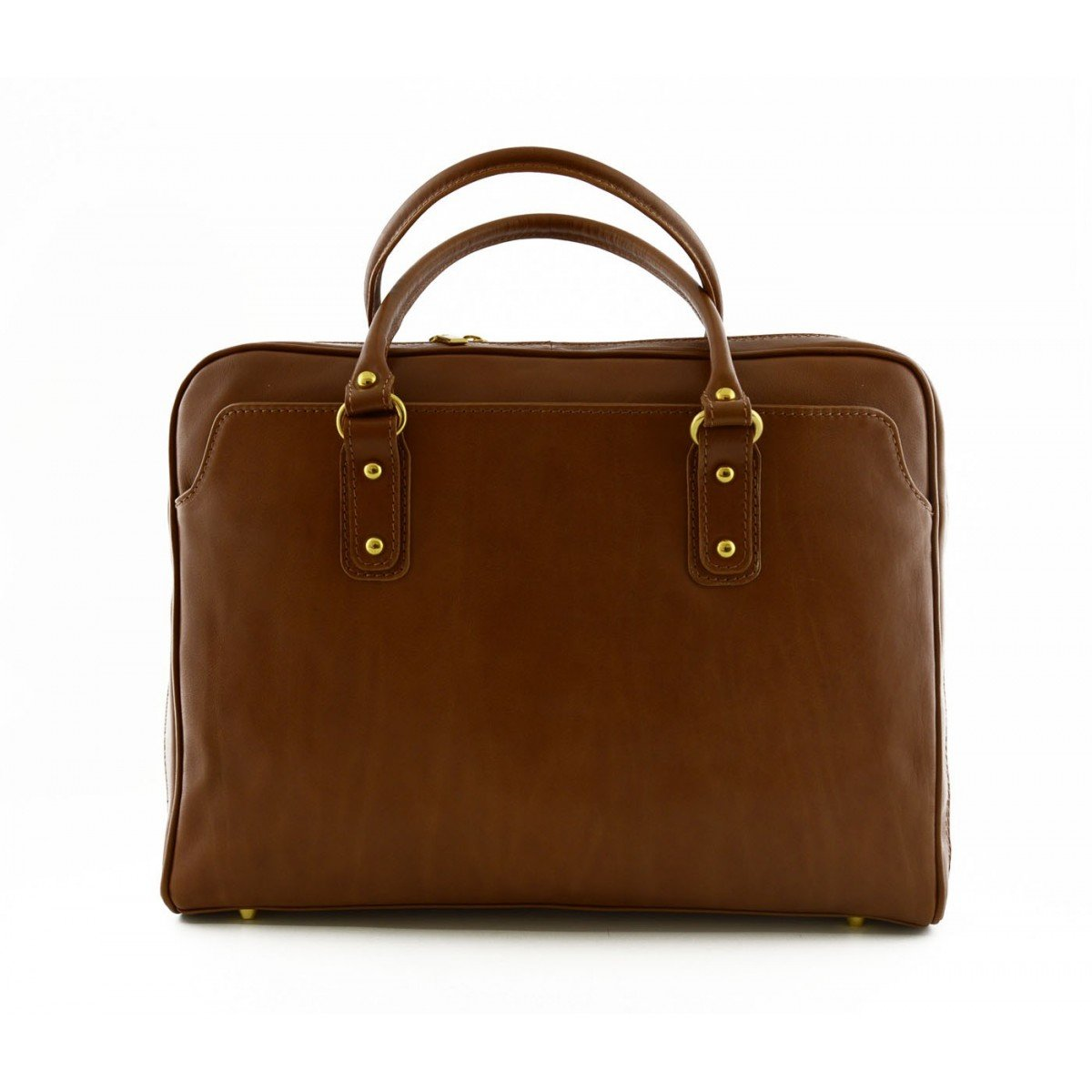Made In Italy Laptop Leather Bag Color Cognac - Business Bag   B015II6HUU
