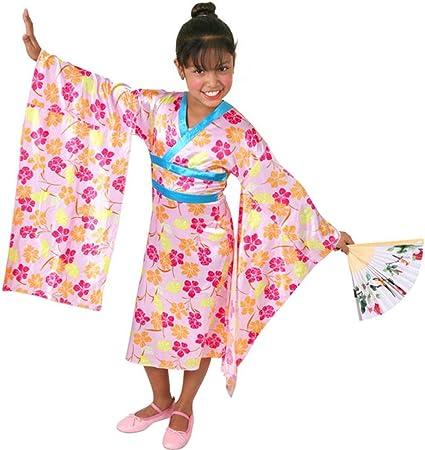 Costume Halloween Geisha.Amazon Com Child S Pink Flower Geisha Halloween Costume Size Medium 8 10 Toys Games
