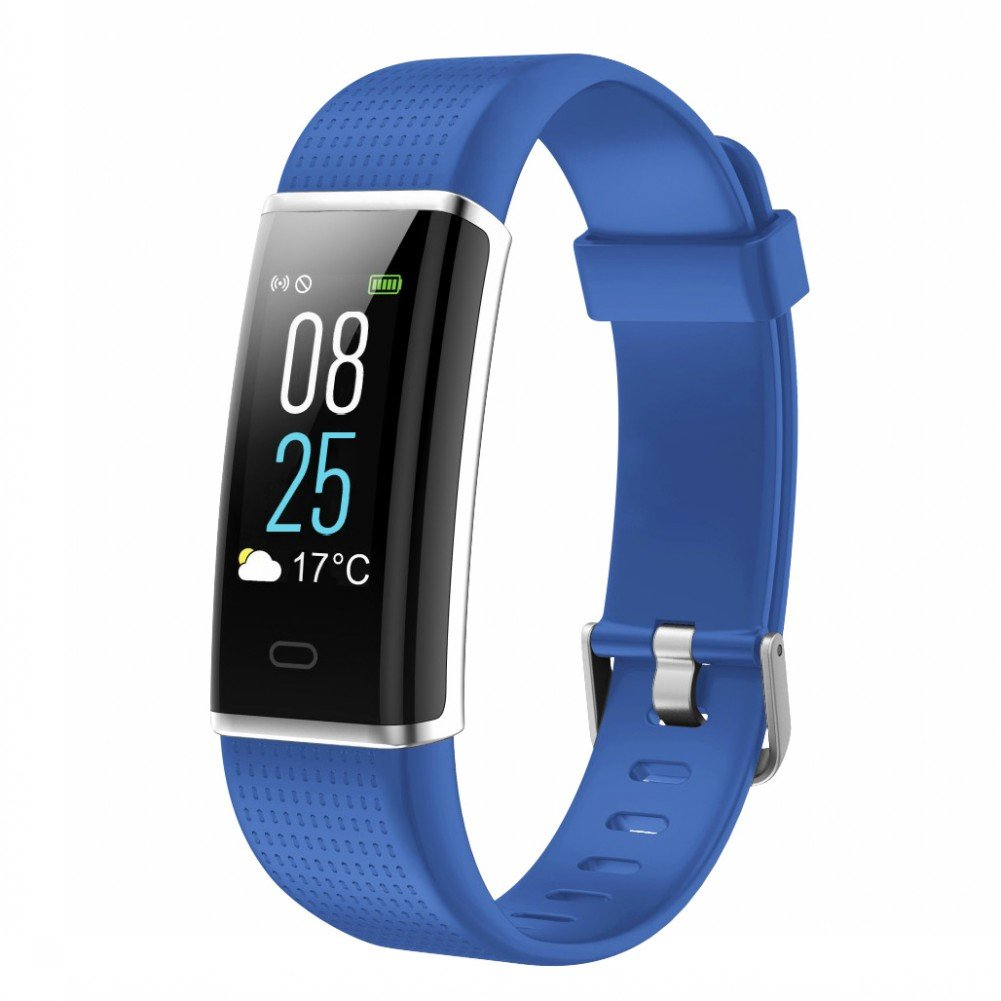 toobur Activity Tracker、防水Fitness Tracker Watch with Heart Rate歩数計カロリー、睡眠モニタ、ステップカウンタリストバンドforレディースメンズ B07CL32X4Q ブルー