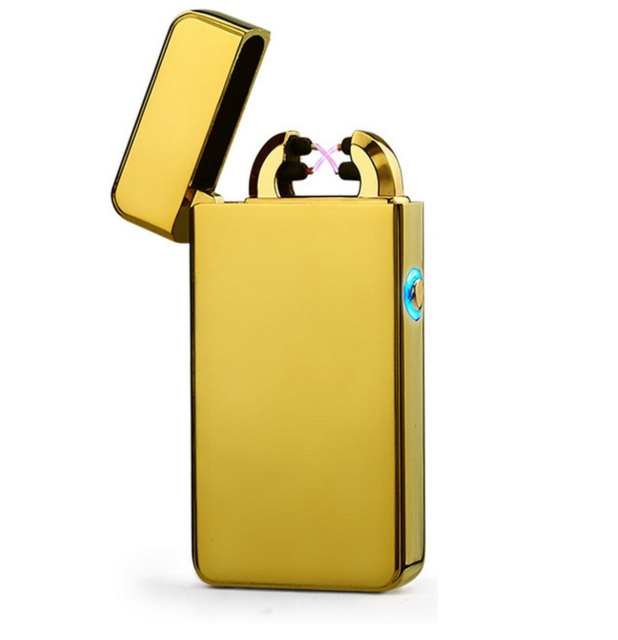 Aokvic Arc Accendino batteria usb accendini elettronici Dual Arc fascio accendisigari accendisigari no gas senza fiamma antivento