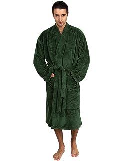 5967dc5d1a TowelSelections Men s Plush Spa Robe Fleece Kimono Bathrobe Made in Turkey