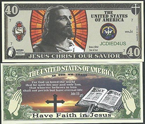 Lot of 100 - Christian / Jesus Bills Bible John 3:16