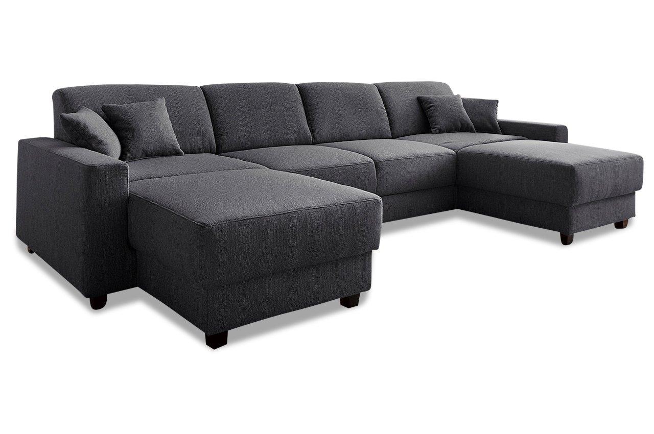Sofa Wohnlandschaft Maarten Mit Relax Webstoff Anthrazit Gunstig